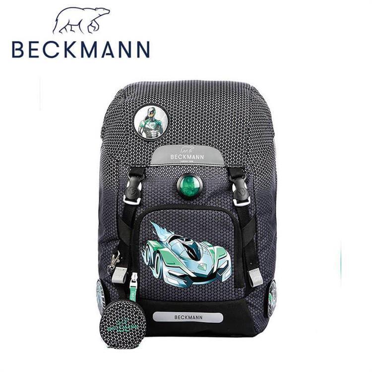 【Beckmann】 兒童護脊書包 22L - 黑色賽車