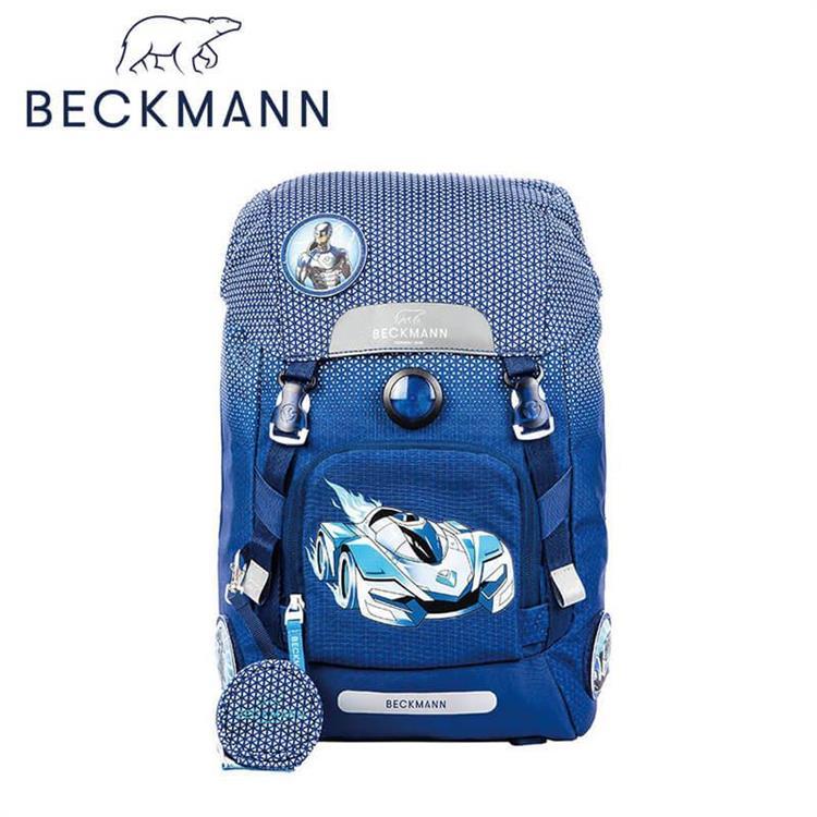 【Beckmann】 兒童護脊書包 22L - 藍色賽車