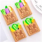 法式紙袋蔬菜造型橡皮擦(隨機出貨)