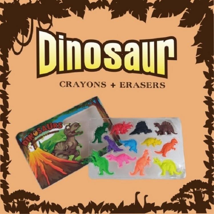 【允拓】恐龍蠟筆橡皮擦組