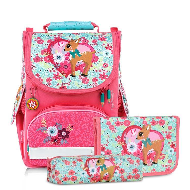 Tiger Family小貴族超輕量護脊書包+文具袋+鉛筆盒-夢幻小鹿