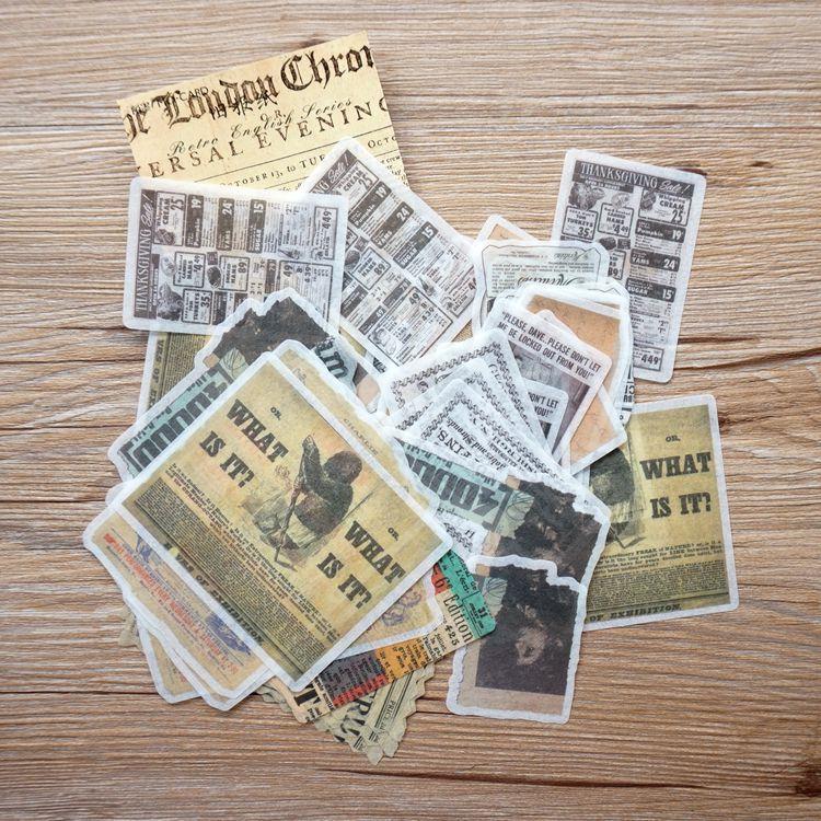 和紙大貼紙系列 02.舊報紙(套/60枚)