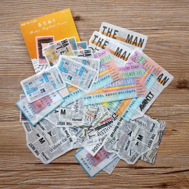 和紙大貼紙系列 05.雜誌畫片(套/60枚)
