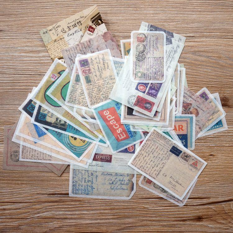 和紙大貼紙系列 06.遠方舊信(套/60枚)