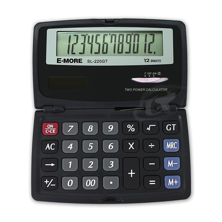 【E-MORE】國家考試專用口袋型計算機 SL-220GT/黑