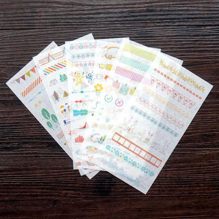 和紙貼紙22.彩繪裝飾線(6入/套)
