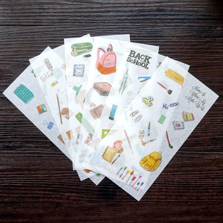 和紙貼紙23.文具用品(6入/套)