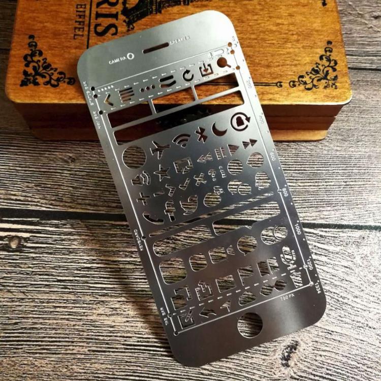 手機造型鏤空手帳塗鴨尺