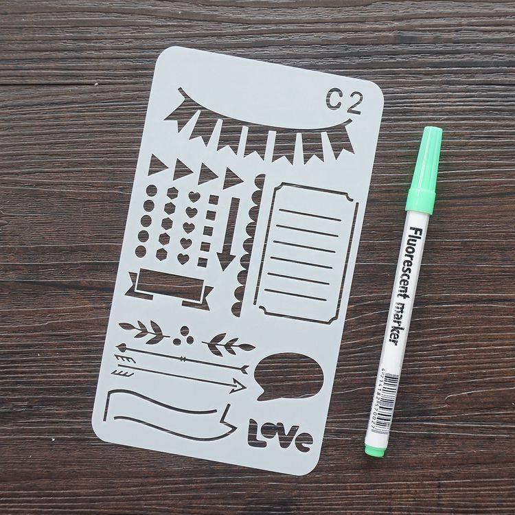 手帳塗鴨板-C2箭頭對話框