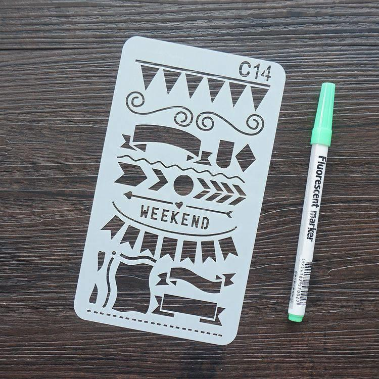 手帳塗鴨板-C14標題標旗