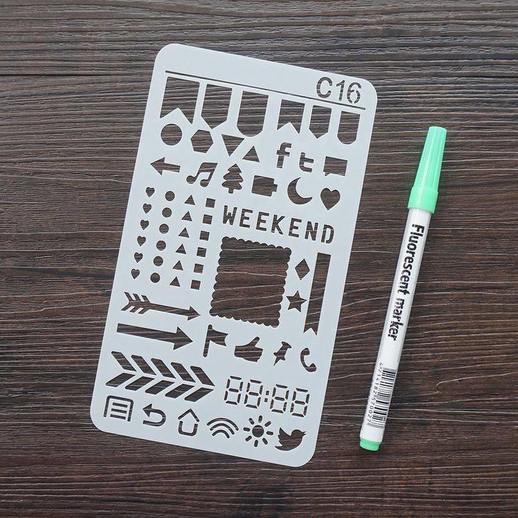 手帳塗鴨板-C16簡單符號
