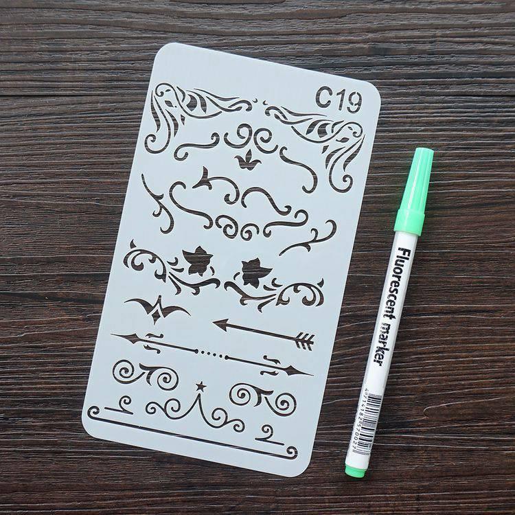 手帳塗鴨板-C19花邊