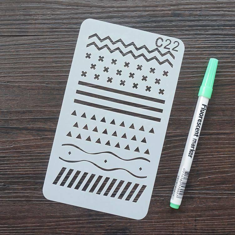 手帳塗鴨板-C22簡約線條符號