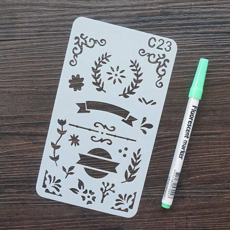 手帳塗鴨板-C23花邊標題II