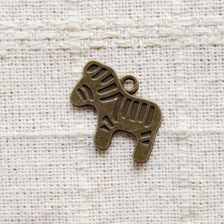 古銅飾品配件-斑馬(6入/組)