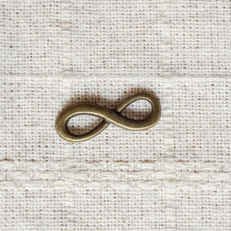 古銅飾品配件-8字連接環(6入/組)