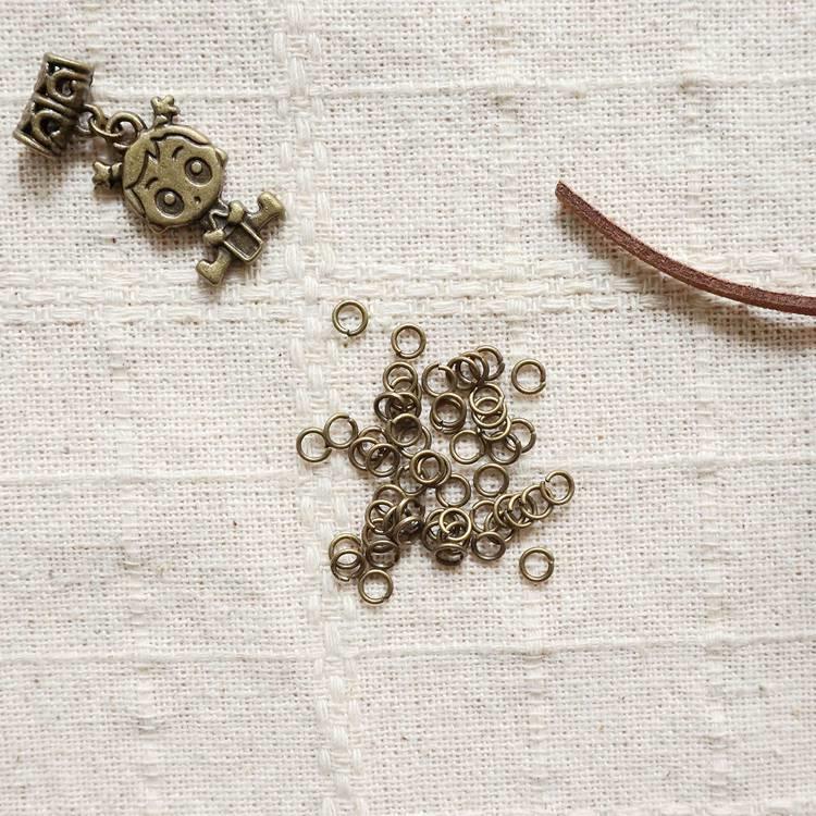 古銅飾品配件-0.38cm連接環(10公克)
