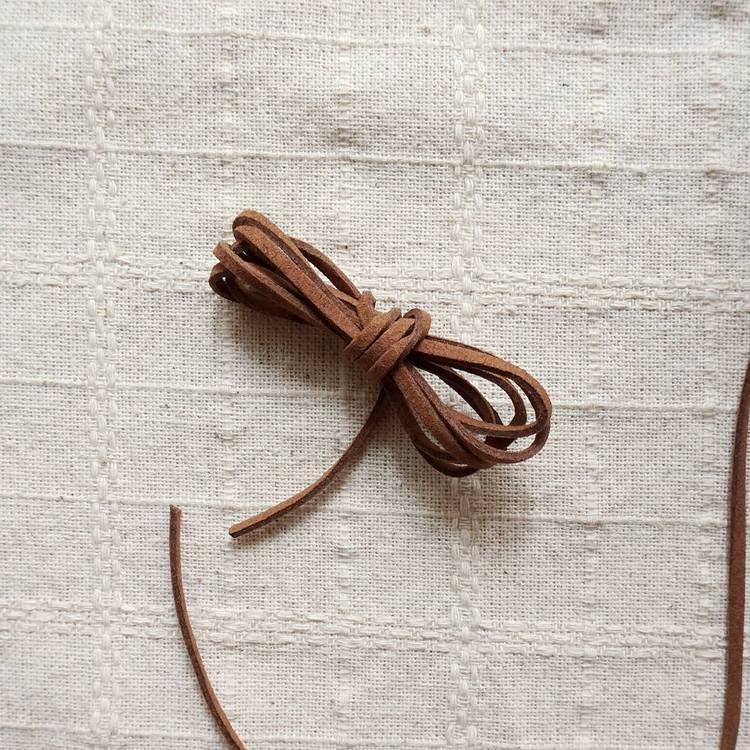 仿麂皮繩0.25cm-咖啡色(240公分)