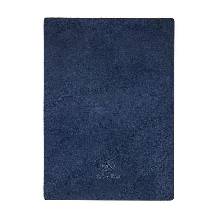 寫字好幫手-法國真皮寫字墊(神秘普魯士藍)+客製雷雕