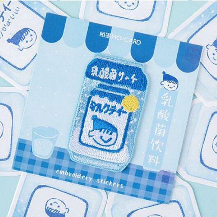 日和飲品舖刺繡貼02.乳酸菌飲料