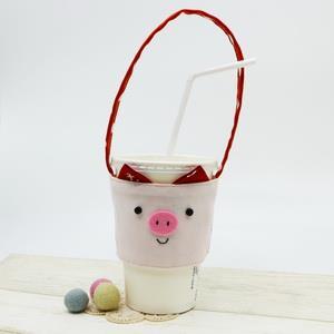 手縫ok!-豬豬環保杯套(影片教學拼布材料包)