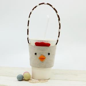 手縫ok!-咕雞環保杯套(影片教學拼布材料包)
