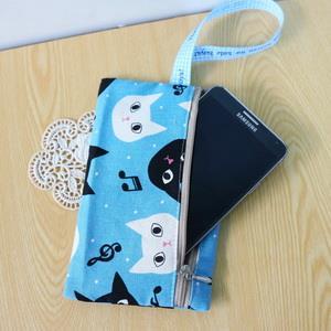 手縫ok!-手機收納袋(簡易拼布材料包)