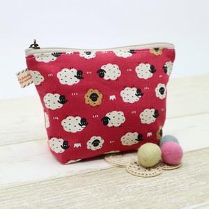 手縫ok!-三角化妝包(簡易拼布材料包)