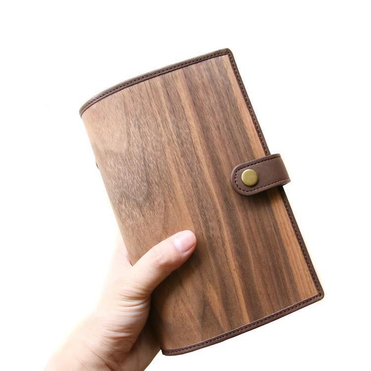木皮革筆記本(栓木紋紙) 手帳