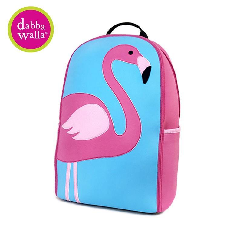 【Dabbawalla】美國瓦拉包-小學生雙肩護脊書包 - 火烈鳥