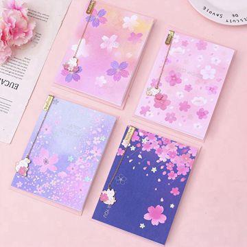 櫻花吊墜書籤附萬用卡A.粉紫