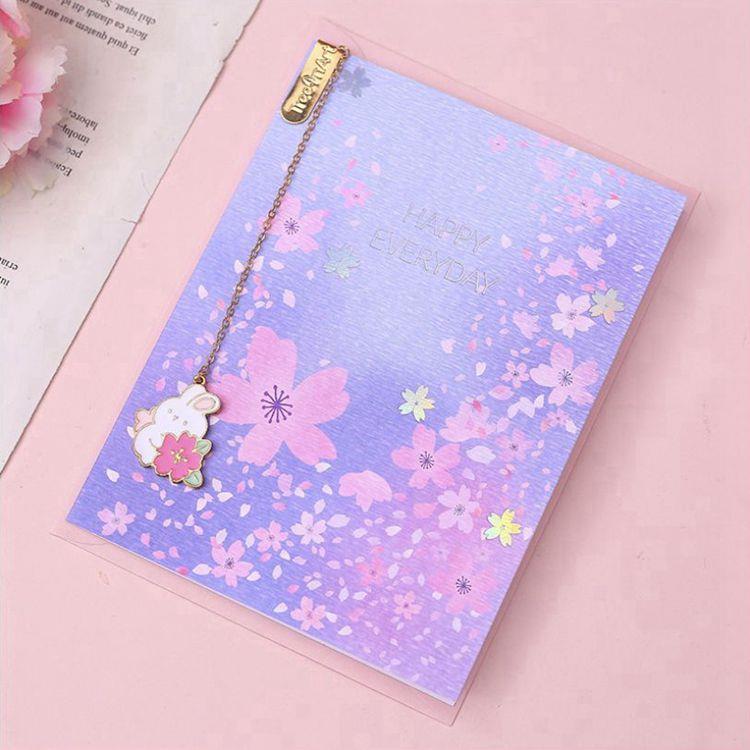 櫻花吊墜書籤附萬用卡C.淺紫
