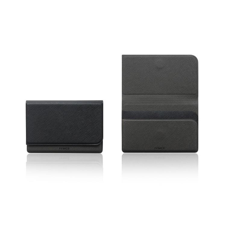 【FENICE】FENICE商務系列-掀蓋式名片夾 (黑)
