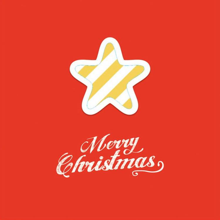 三折鏤空聖誕小卡C.星星
