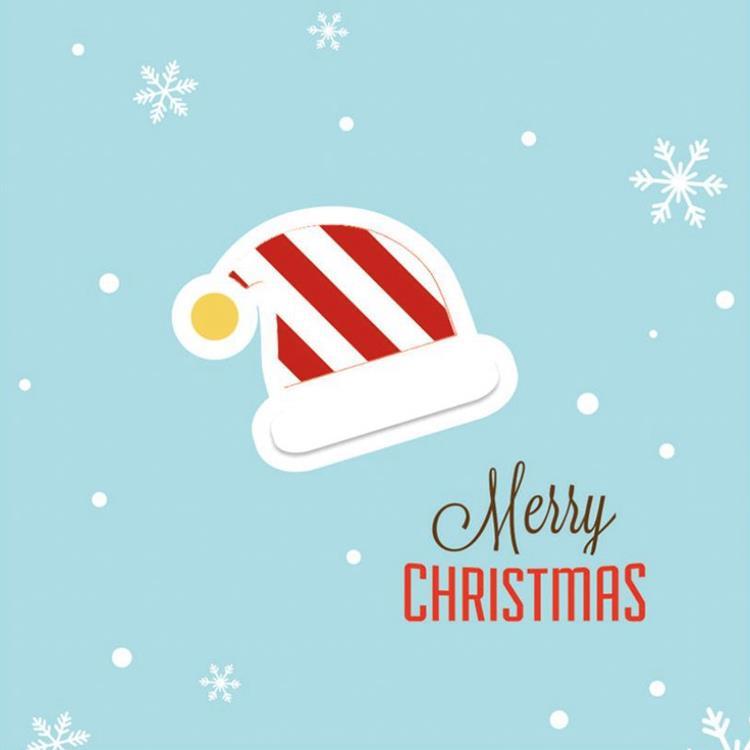 三折鏤空聖誕小卡E.聖誕帽