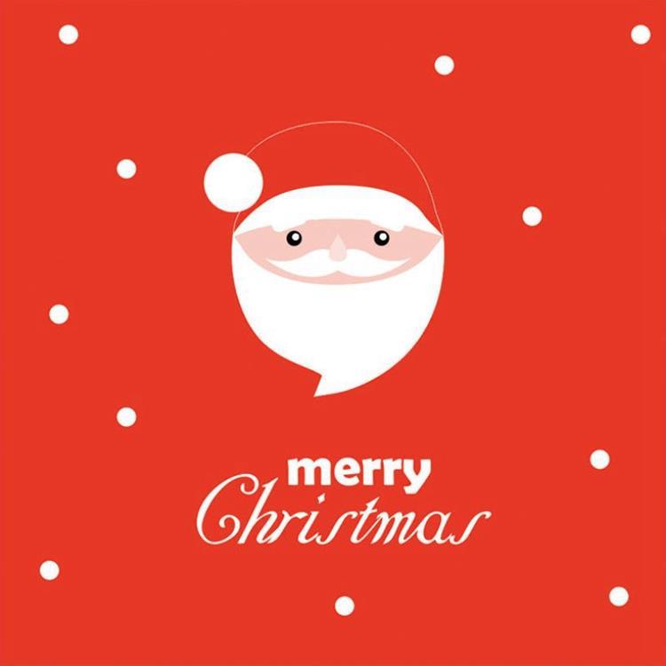三折鏤空聖誕小卡G.聖誕老人