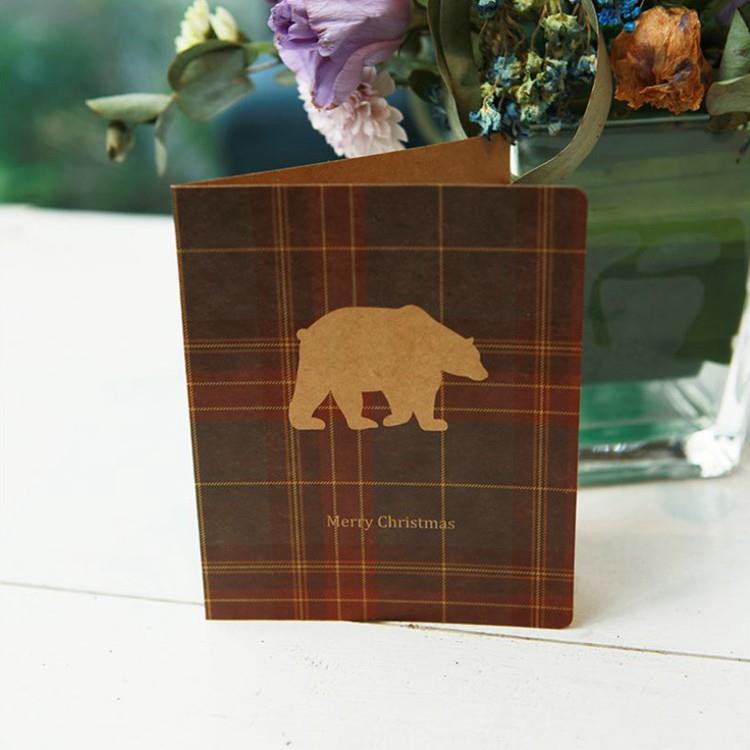 復古格紋聖誕小卡C.北極熊