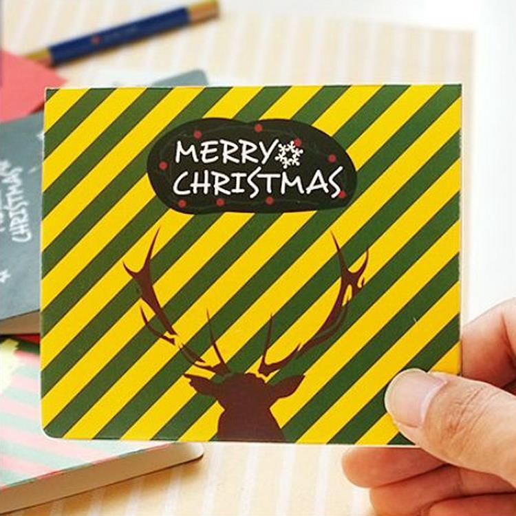 麋鹿聖誕小卡B.黃紋