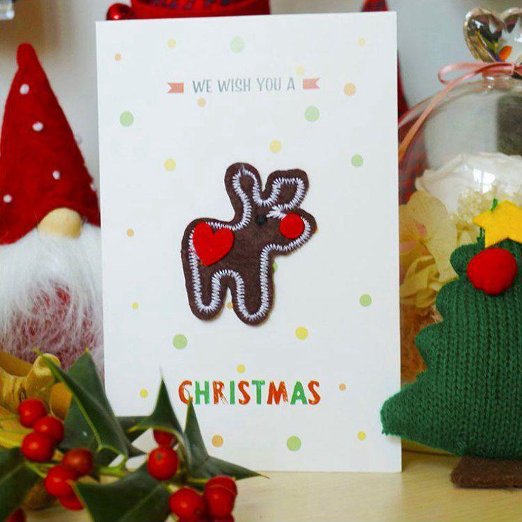 毛氈立體聖誕卡B.麋鹿