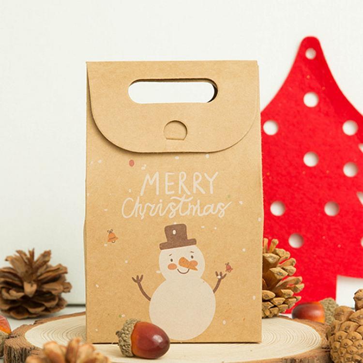 牛皮聖誕禮品袋C.雪人