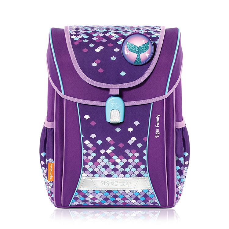 Tiger Family學院風超輕量護脊書包-魔幻紫