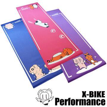 【 X-BIKE 晨昌】環保無毒-卡通造型瑜珈墊-紫色