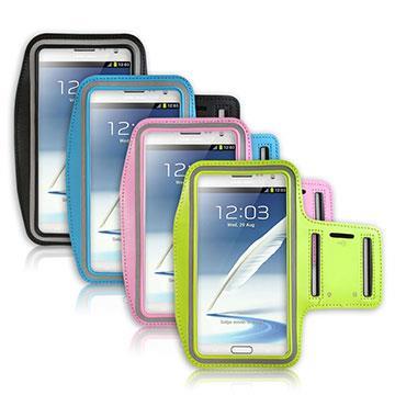 三星 Samsung Note1/2專用 彩色運動防潑水手機臂帶