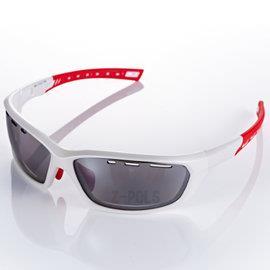 【視鼎Z-POLS三代頂級運動款】新一代TR太空纖維彈性輕量材質弧形包覆設計頂級運動眼鏡!(質感白)