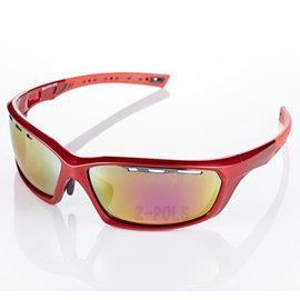 【視鼎Z-POLS三代頂級運動款】新一代TR太空纖維彈性輕量材質弧形包覆設計頂級運動眼鏡(法拉利紅)