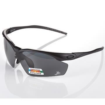 【視鼎 太空纖維三代款】TR彈性輕量材質搭載100%Polarized頂級偏光運動眼鏡!(消光黑款)