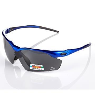 【視鼎 太空纖維三代款】TR彈性輕量材質搭載100%Polarized頂級偏光運動眼鏡!(寶藍款)