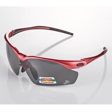 【視鼎 太空纖維三代款】TR彈性輕量材質搭載100%Polarized頂級偏光運動眼鏡!(桃紅款)