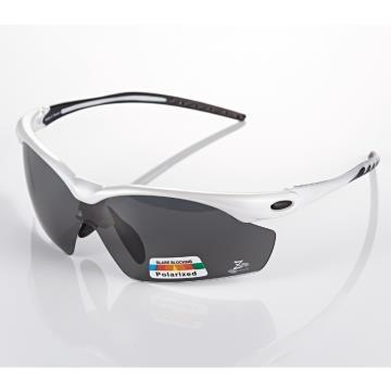 【視鼎 太空纖維三代款】TR彈性輕量材質搭載100%Polarized頂級偏光運動眼鏡!(珍珠白款)