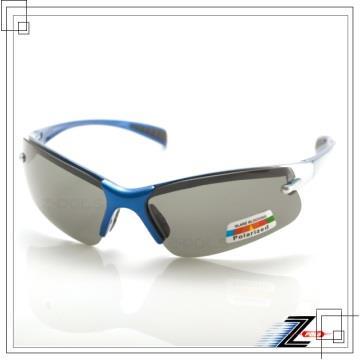 【Z-POLS專業輕巧彈性款】頂級藍銀漸層設計寶麗來UV400偏光運動眼鏡全新上市(加送原廠掛勾盒)